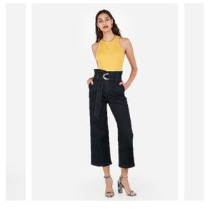 EXPRESS Super High Waisted Belted Wide Leg Jeans!